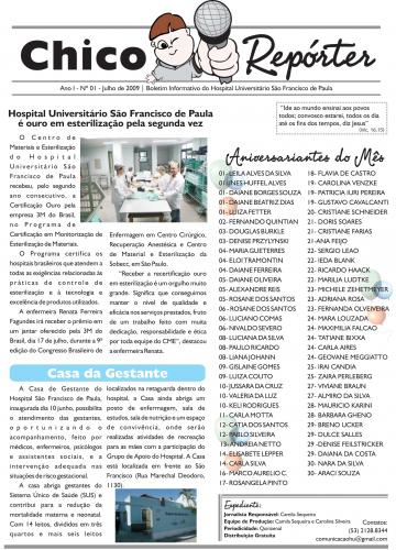 Novidade: Hospital Universitário São Francisco de Paula vira notícia no Chico Repórter