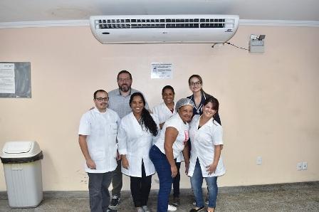 HU recebe doação de ar-condicionado para o restaurante