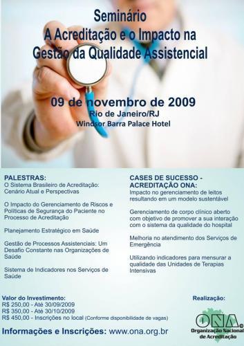Colaboradoras do HUSFP participam de Seminário sobre Qualidade Assistencial no Rio de Janeiro
