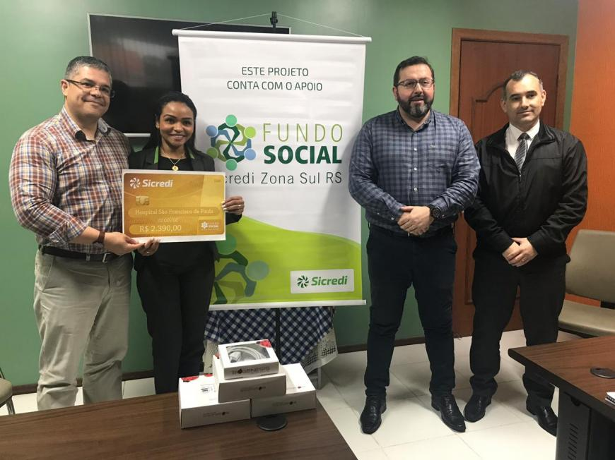 HU recebe doação do Fundo Social Sicredi Zona Sul