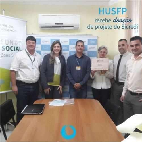 HU recebe doação de projeto do Sicredi