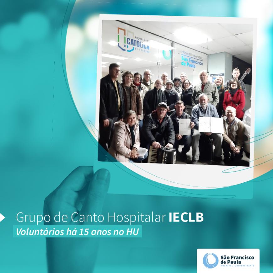 Grupo de Canto Hospitalar – IECLB atua há 15 anos no HU