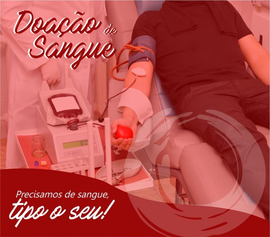 O Hemocentro precisa de sangue tipo o seu