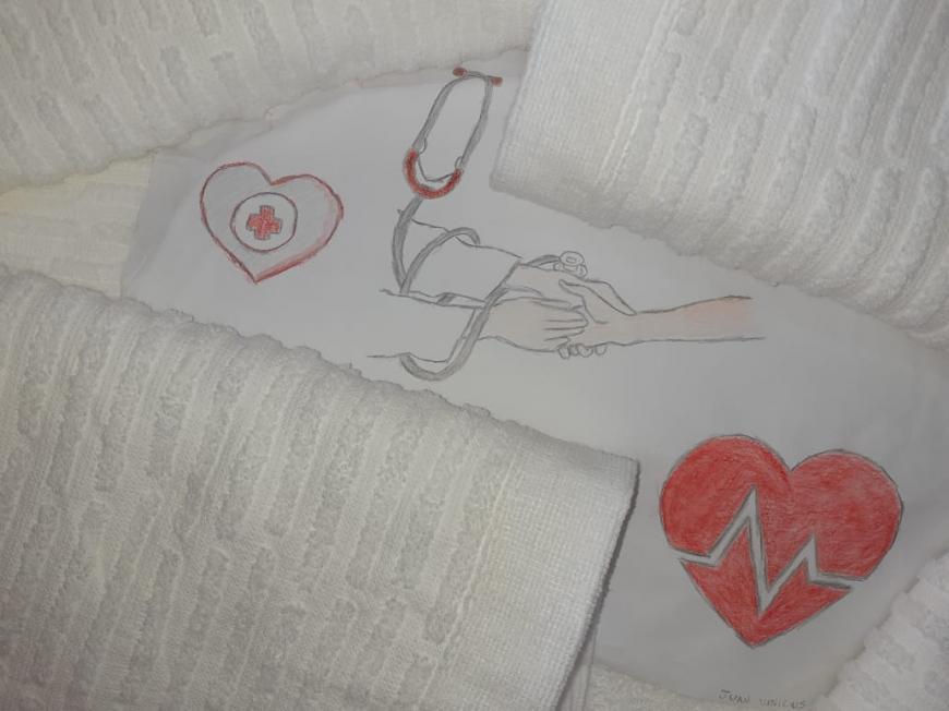 Funcionárias da Embrapa Clima Temperado doam 190 toalhas de banho ao HUSFP