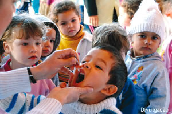 79% das crianças vacinadas na Campanha contra a Polio