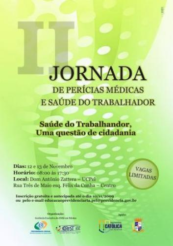 2ª Jornada de Perícias Médicas e Saúde do Trabalhador com inscrições abertas