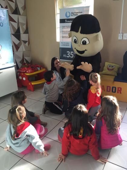 Chico em Ação visita escolas de educação infantil