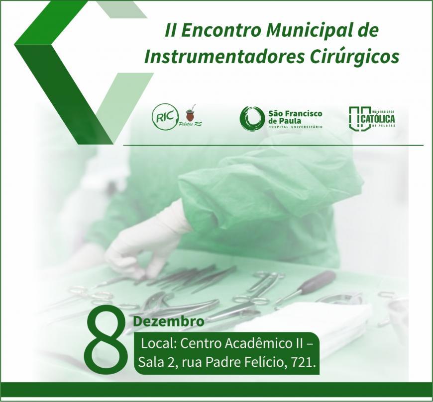 Abertas as inscrições para apresentação de trabalhos no II Encontro Municipal de Instrumentadores Cirúrgicos