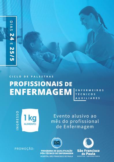 HU promove Ciclo de Palestras pelo Mês do Profissional de Enfermagem