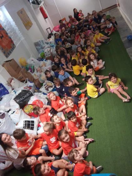 HU recebe doações arrecadas em gincana no Centro Educacional Infantil Espaço Criança