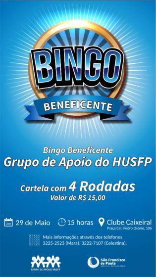 Grupo de Apoio do HUSFP promove bingo beneficente
