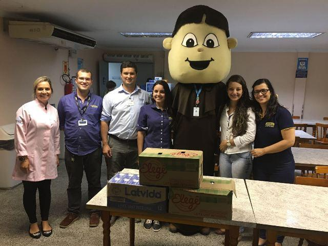Empresa doa caixas de leite ao HUSFP