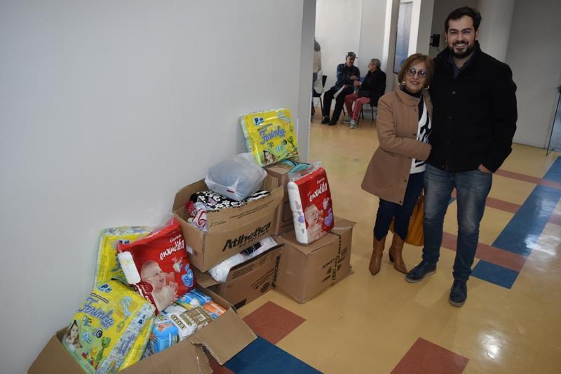 Colégio Gonzaga doa fraldas e roupas aos enfermos do HUSFP